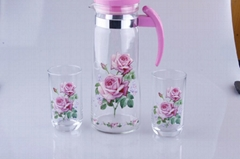 Glass Jug Glass Kettles Glass Water Pot One Jug And Sinx Glasses