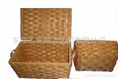 木片編織盒(圖片)