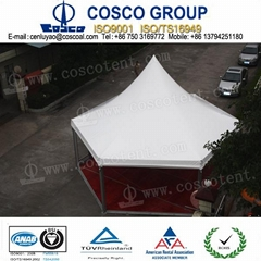 hexagonal tent pagoda tent with glass wall