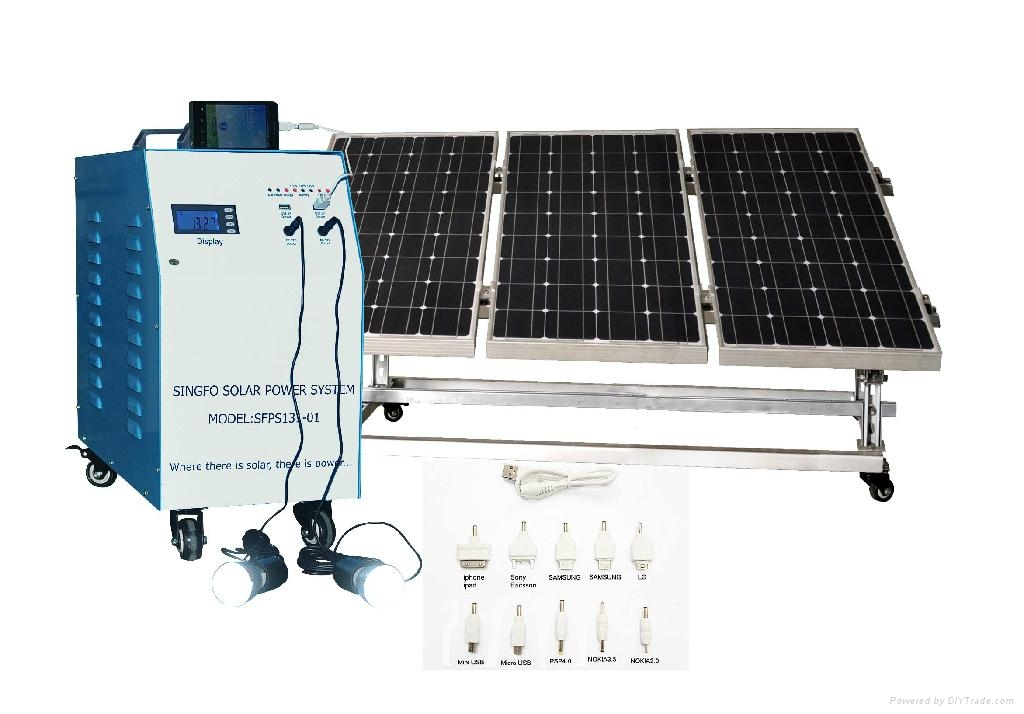 Energy Power System : W solar home power energy systems singfo china