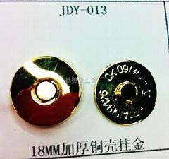 18MM加厚铜壳挂真金磁性钮扣