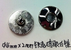 16MM鸡眼白镍磁性钮扣