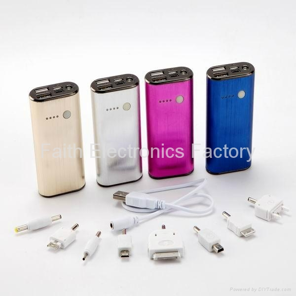 power bank 5000mAh charger for iphone, ipad, samsung, blackberry, lenovo, htc 4