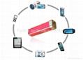Fashion high quality 2200mAh portable power power for iphone,galaxy,htc,lenovo 4