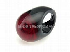 珠绣合金戒指