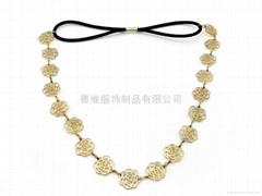珠绣合金项链