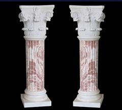 天然大理石樓梯立柱