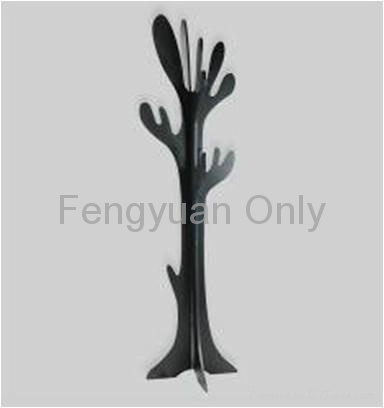 MDF wooden coat tree hat rack clothes hanger home decor 3