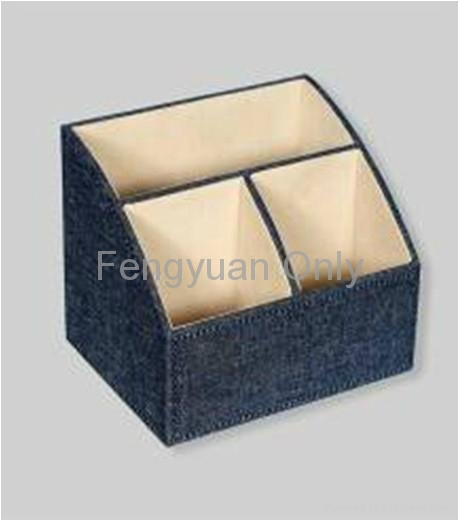 ... Office Desk Accessories , PU Leather. Paper Rack Magazine Basket File  Case 2 ...