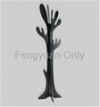 MDF wooden coat tree hat rack clothes stander home decoration 3