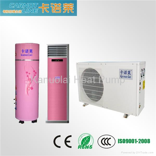 Tri-cogeneration (cooling, heating, hot water) Household air to water heat pump  1