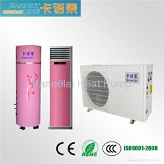 Tri-cogeneration (cooling, heating, hot water) Household air to water heat pump