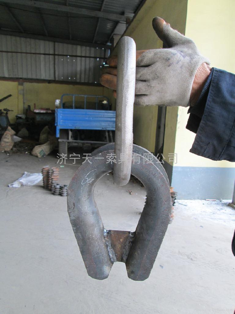 重型G414鋼絲繩套環 2