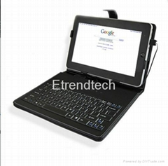 10 inch Android Leather Case with Keyboard for Tablet PC-USB Cable Wired