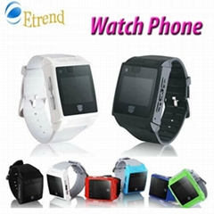 "H2 Watch Phone 1.5"" Touch Screen Bluetooth FM Hidden camera Mini Mobile"