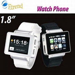 "i5 Watch Mobile 1.8"" Touch Screen GSM Quad Band 2.0MP Camera Bluetooth FM Torch"
