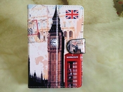 "Big Ben Colored painting Leather Case 7"" Universal PU Case for Tablet PC MID (Hot Product - 1*)"
