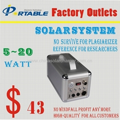 5W mobile home solar system for home lighting and device charge
