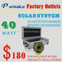portable solar system for home use or out use