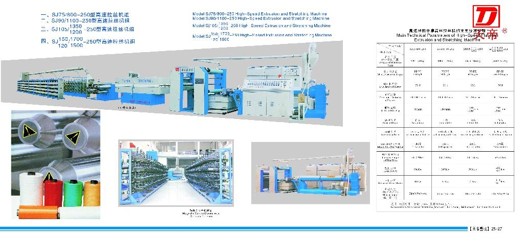 Model SJ90/1100-2500 High-Speed Extrusion and Stretching Machine 1