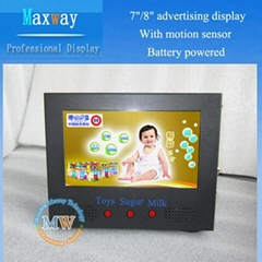8 inch lcd advertising display with wide screen