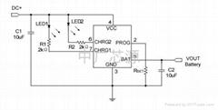 400mA单节锂离子电池充电器芯片