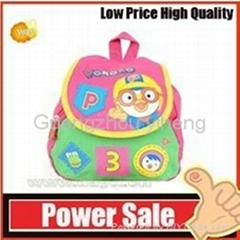 OEM--pink small nylon Pororo cartoon backpack for kids
