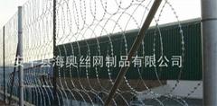 供应护栏网 刺绳/刀片护栏网