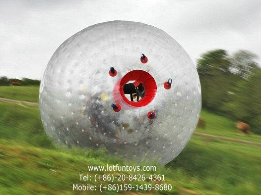 Inflatable Human Hamster Zorbing Ball for grass land. 5