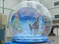 Giant Inflatable Human Snow Globe for Christmas Holiday 2