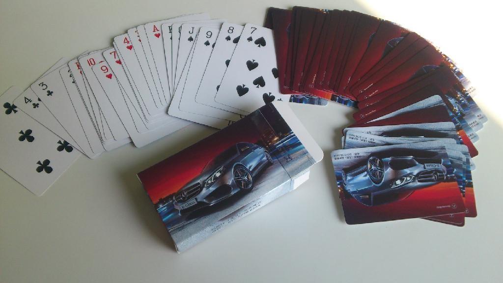 Advertising playing card  1