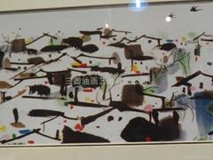 高仿装饰油画、吴冠中风格抽象水墨画