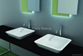 Radient Solid Surface Artificial Stone Basins PB2058