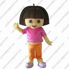 朵拉卡通服装人偶