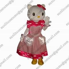 凯蒂猫卡通服装人偶