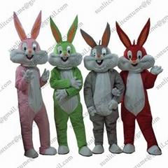 兔八哥卡通服装人偶