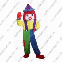 小丑卡通服装人偶