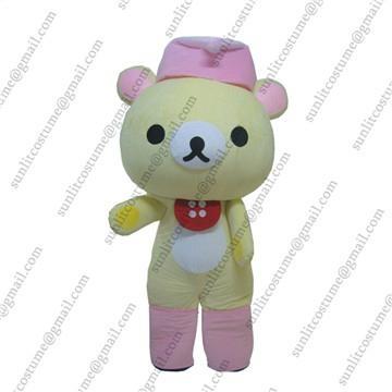 松弛熊卡通服装人偶