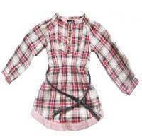 Girl Check Long Sleeve Shirts