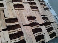 cabbage palm fiber wooden brush