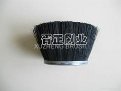 Polypropylene bristle cup shape strip brushes