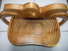 bamboo folding fruit basket