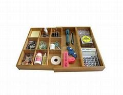 Bamboo drawer; Expandable Bamboo Drawer Organizer
