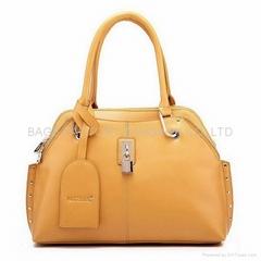Wholesale handbag Genuine leather women shoulder bag Beige
