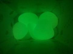 colorful photoluminescent cobblestone