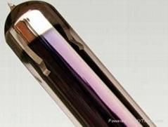 vacuum tube purple golden