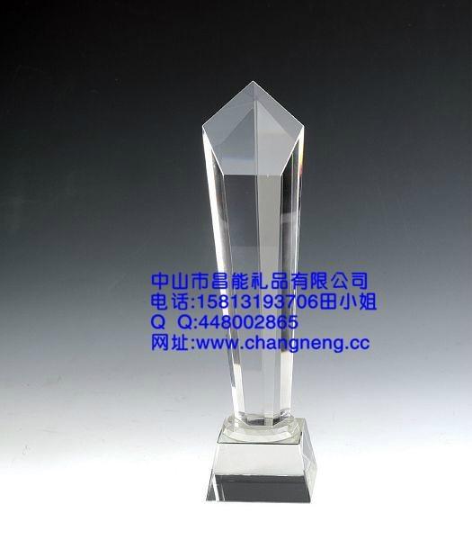 五角星水晶獎杯 2