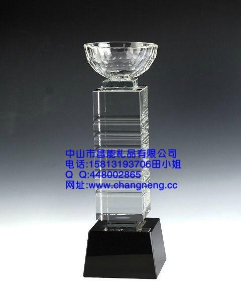 五角星水晶獎杯 3