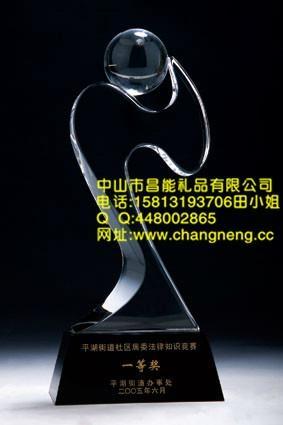 五角星水晶獎杯 4