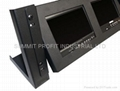 "Dual Rack Mount Monitor Frame w/ Two 7"" LCD Monitors"